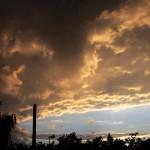 Abendsonne in den Wolken.