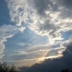 Abendwolken.
